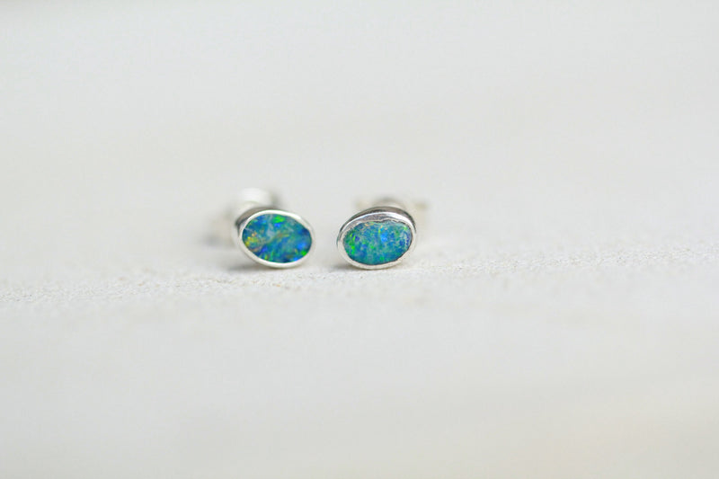 Australian Opal Earrings Stud