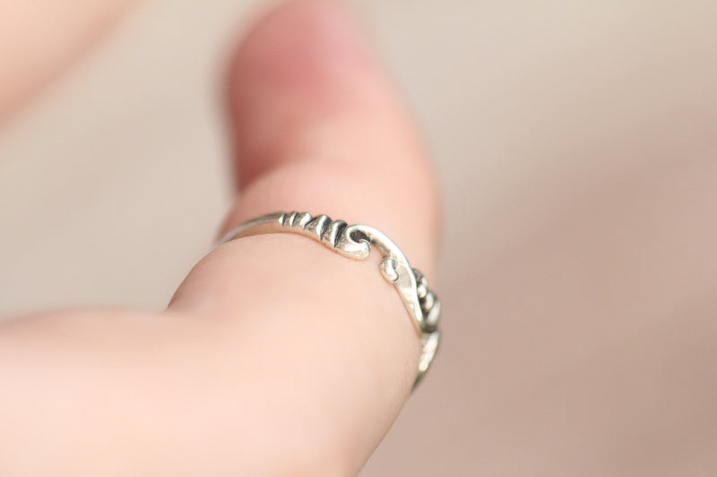 Tiny Midi Stack Ring in Nickel Free Solid 925 Sterling Silver Handmade
