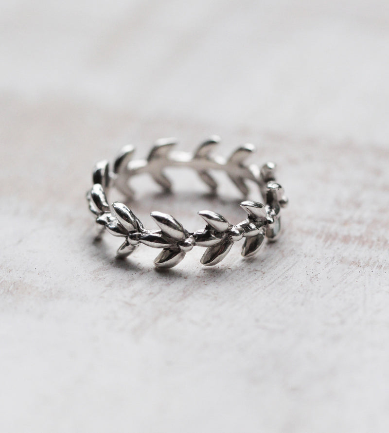 Succulent Stack Ring, Patterned Band Ring, Slim Rings Stacking, Boho Sterling Nature, Leaf Jewelry, Simple Ring, Gift Her, Stylish Slim Band