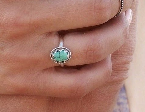 Turquoise Ring, Star, 925 Silver, Stamped Sterling, Boho, Trendy, Stackable, Jewelry, Dainty, Bohemian, Oval, Stack, Unique, Celestial