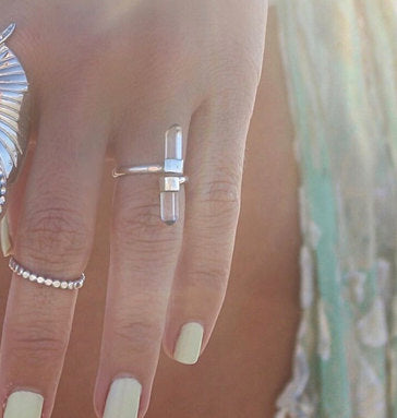 Boho Crystal Ring for Women