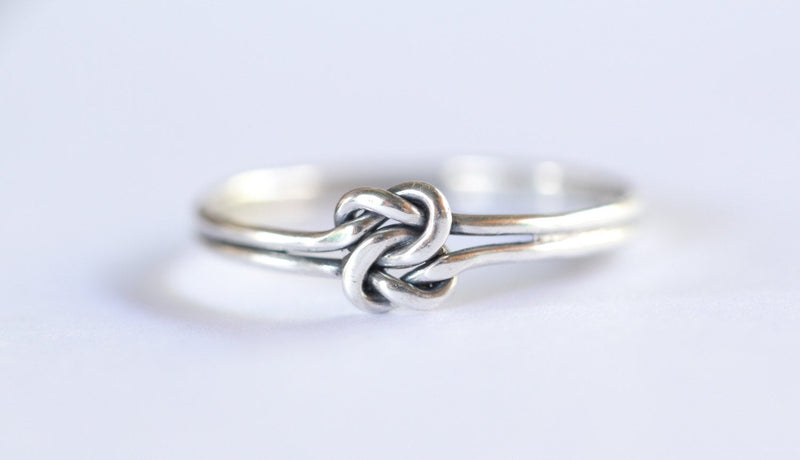 Infinity Knot Ring, Midi Ring, Tiny Ring, Simple Rope Ring, 925 Sterling Silver Ring, Twist, Small Ring, Stacking Ring, Silver Ring