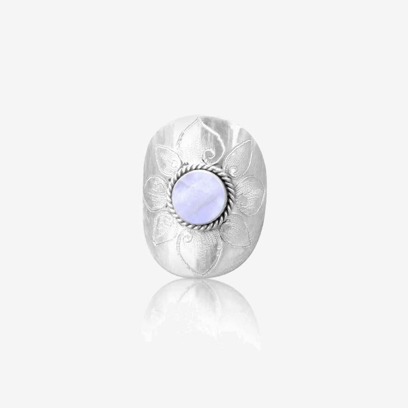 Rainbow Moonstone Ring, Simple, Cocktail Ring, 925 Sterling Silver Gemstone Ring, Personalized, Engraved, Small Ring, Womens ring