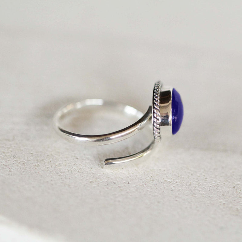 Lapis Lazuli Ring, Sterling Ring, Boho Ring, Adjustable Ring, Personalized, Bohemian, Silver, 925 Sterling Silver