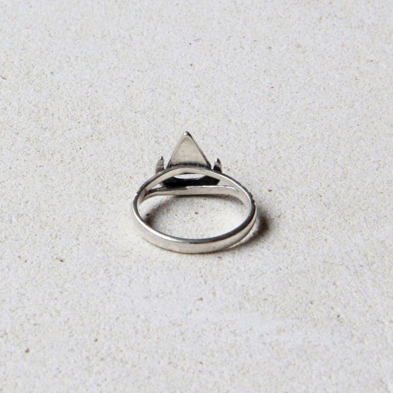 Tiny Moon Crescent Ring in solid 925 Sterling Silver Dainty Beauty Christmas Gift