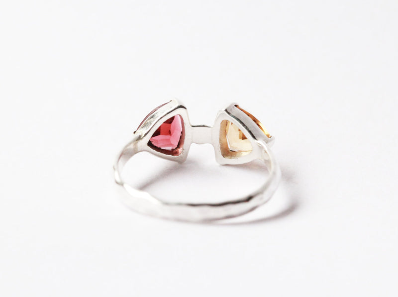 Slim Band Ring, Boho Rings, Minimalist Rings, Modern Ring, Colourful Silver Ring, Unique, Sterling Silver Rings, Gemstone Rings, Citrine,