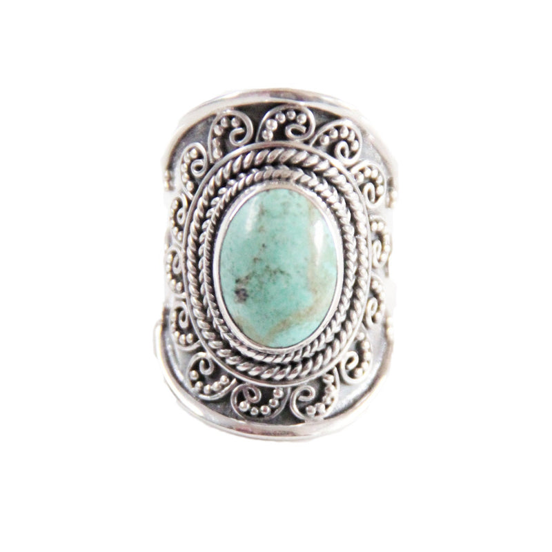 Turquoise Sterling Silver Ring, Personalized Jewelry, Turquoise Jewelry, Boho Ring, Boho Jewelry, Boho Chic, Statement Rings, Don Biu