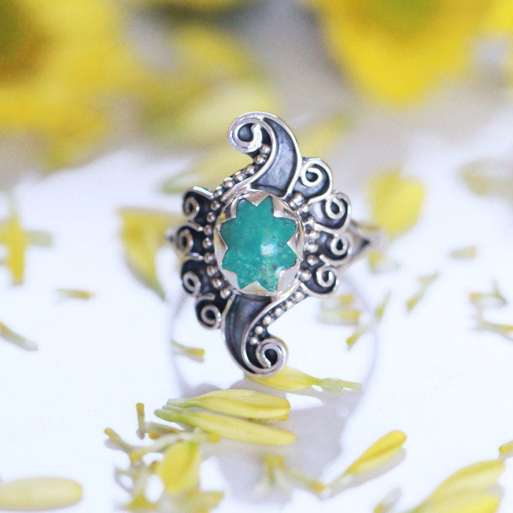 Boho Jewelry, Boho, Silver Ring, Unique Ring, turquoise ring, Personalised Ring, Statement Ring, Boho Ring, Sterling Silver, Swirl Ring