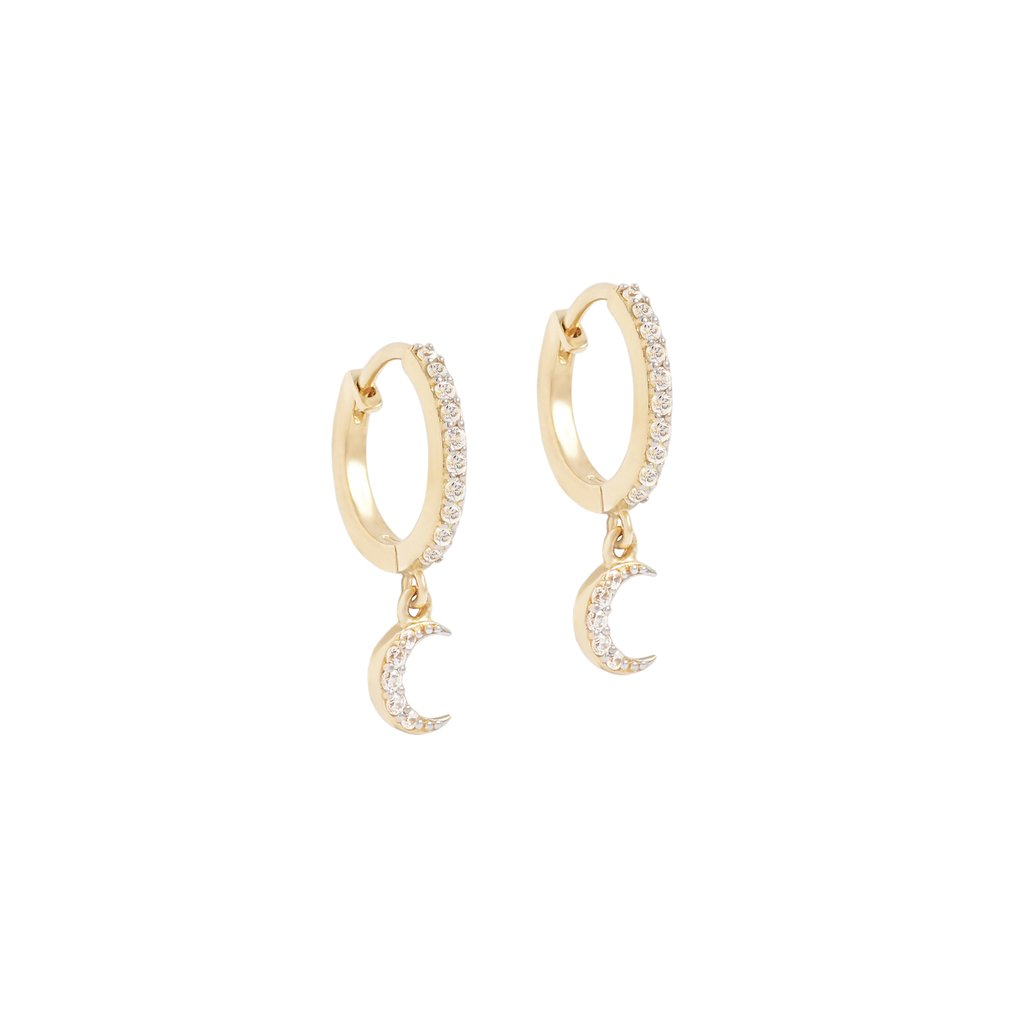 14k Gold Moonlight Dreamer Hoops