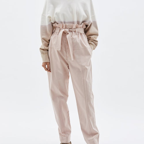 Pique Canvas Belted Pant