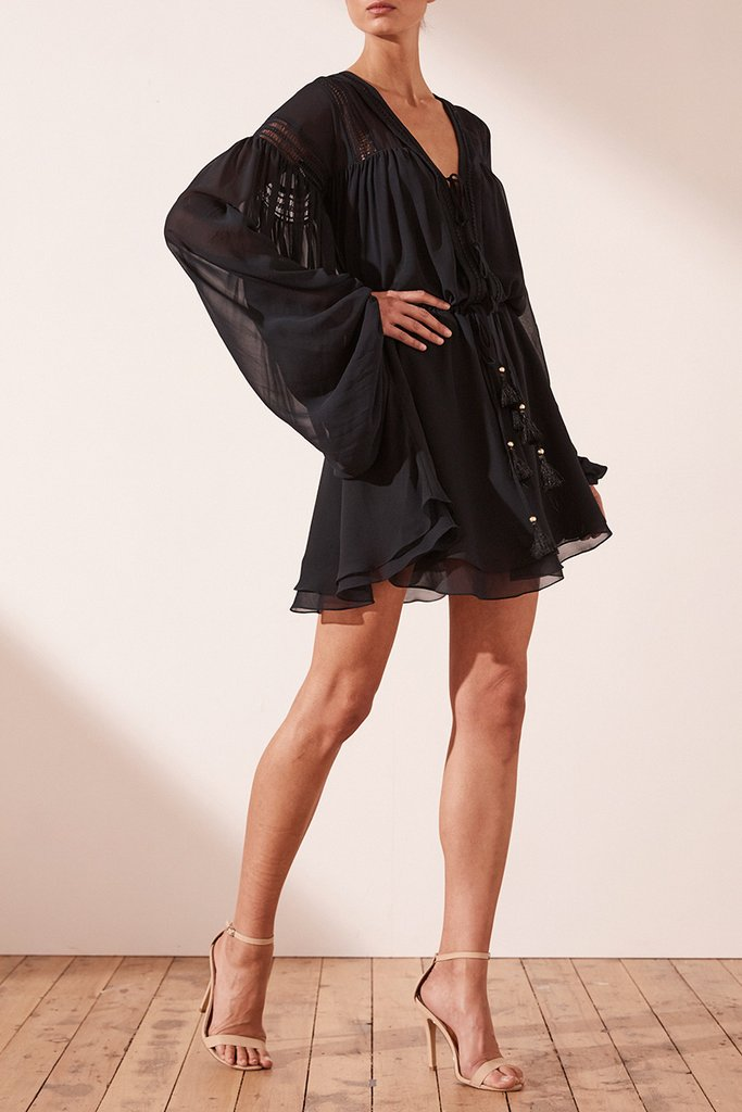 Rafaella Drawstring Mini Dress