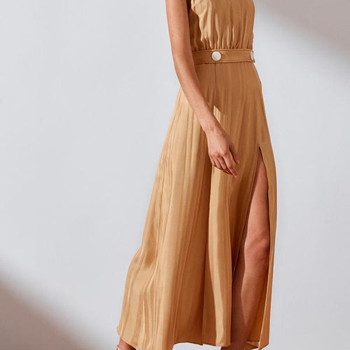 Daisy Sleeveless Bias Midi Dress