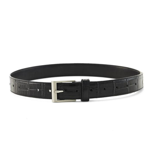 The Mia Belt Black Croc