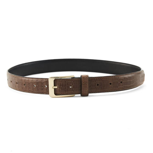 The Mia Belt Brown Croc