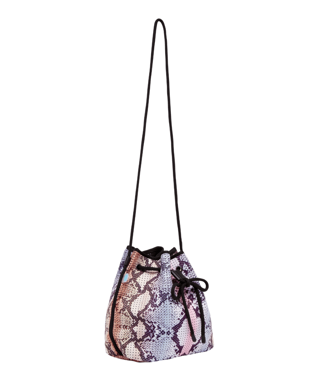 Shyla Snakeskin Neoprene Bucket Bag