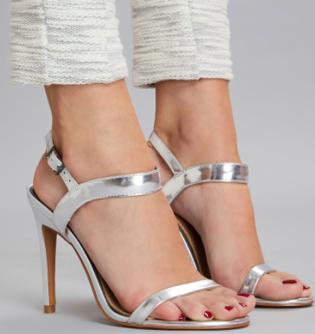 Lane Metallic Heel