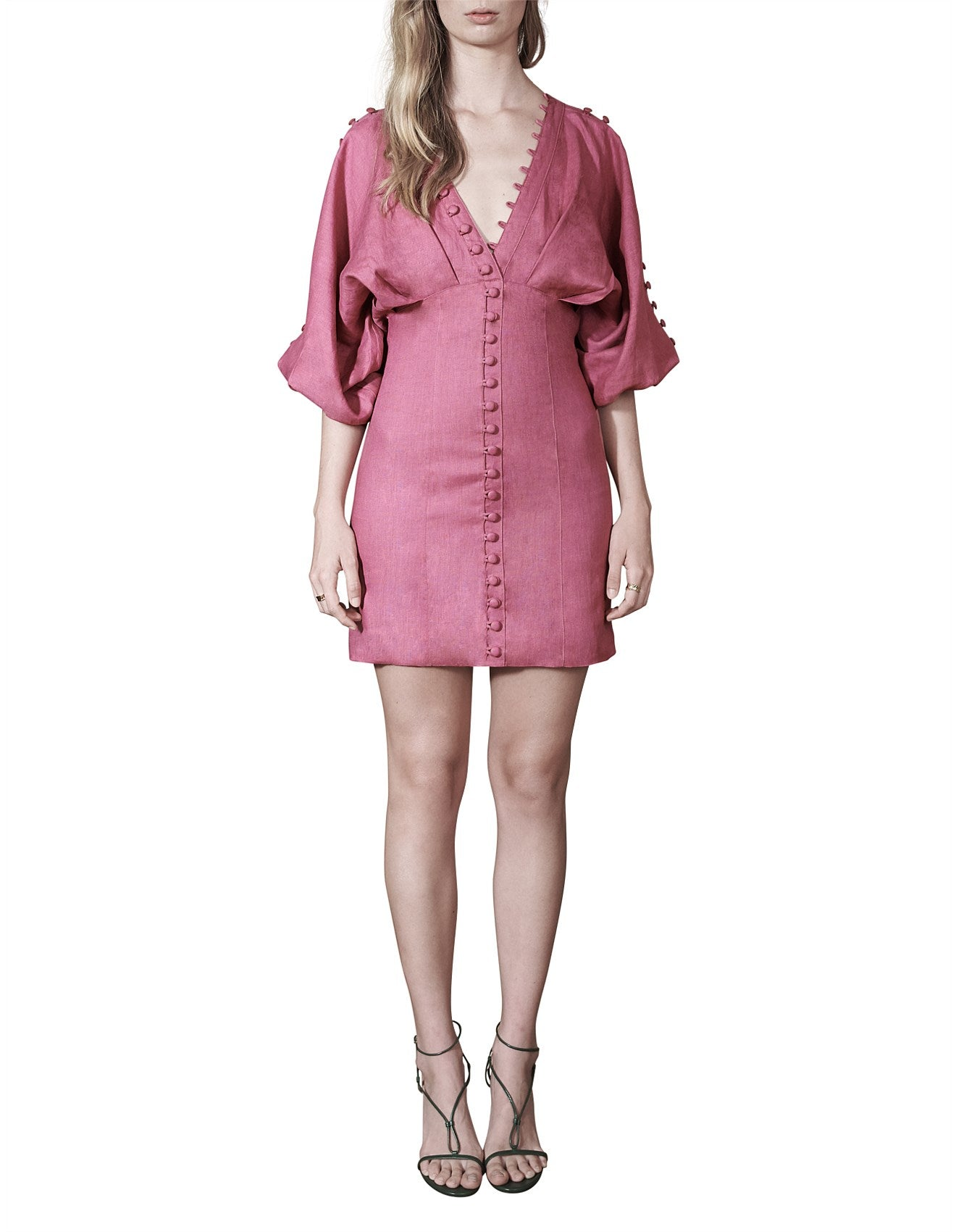 Isabella Linen Ramie Mini Dress