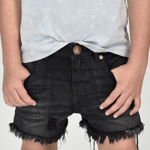 Kids Mr Blacks Relaxed Denim Short
