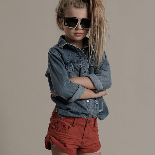 KIDS BANDITS DENIM SHORT