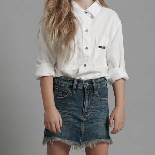 Kids 2020 Mini High Waist Denim Skirt