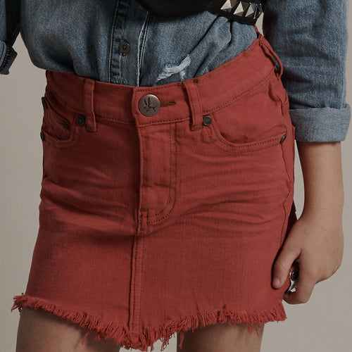 KIDS 2020 HIGH WAIST DENIM SKIRT