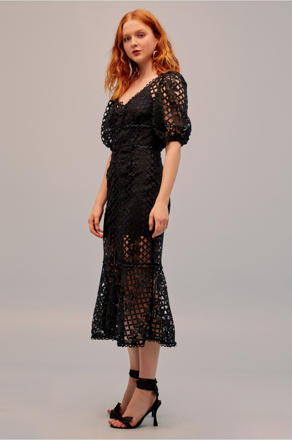 Loveable Lace Midi Dress