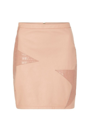 Celia Leather Mini Skirt