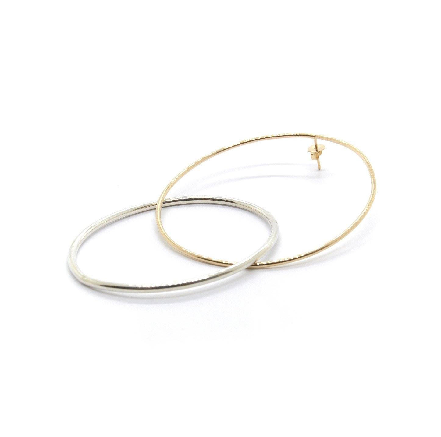 XL Loop Through Oval Hoops