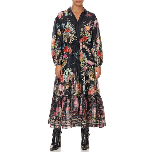 Hampton Hive Tiered Long Shirt Dress