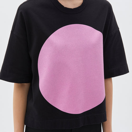 Double Jersey Boxy Dot S/S T-Shirt