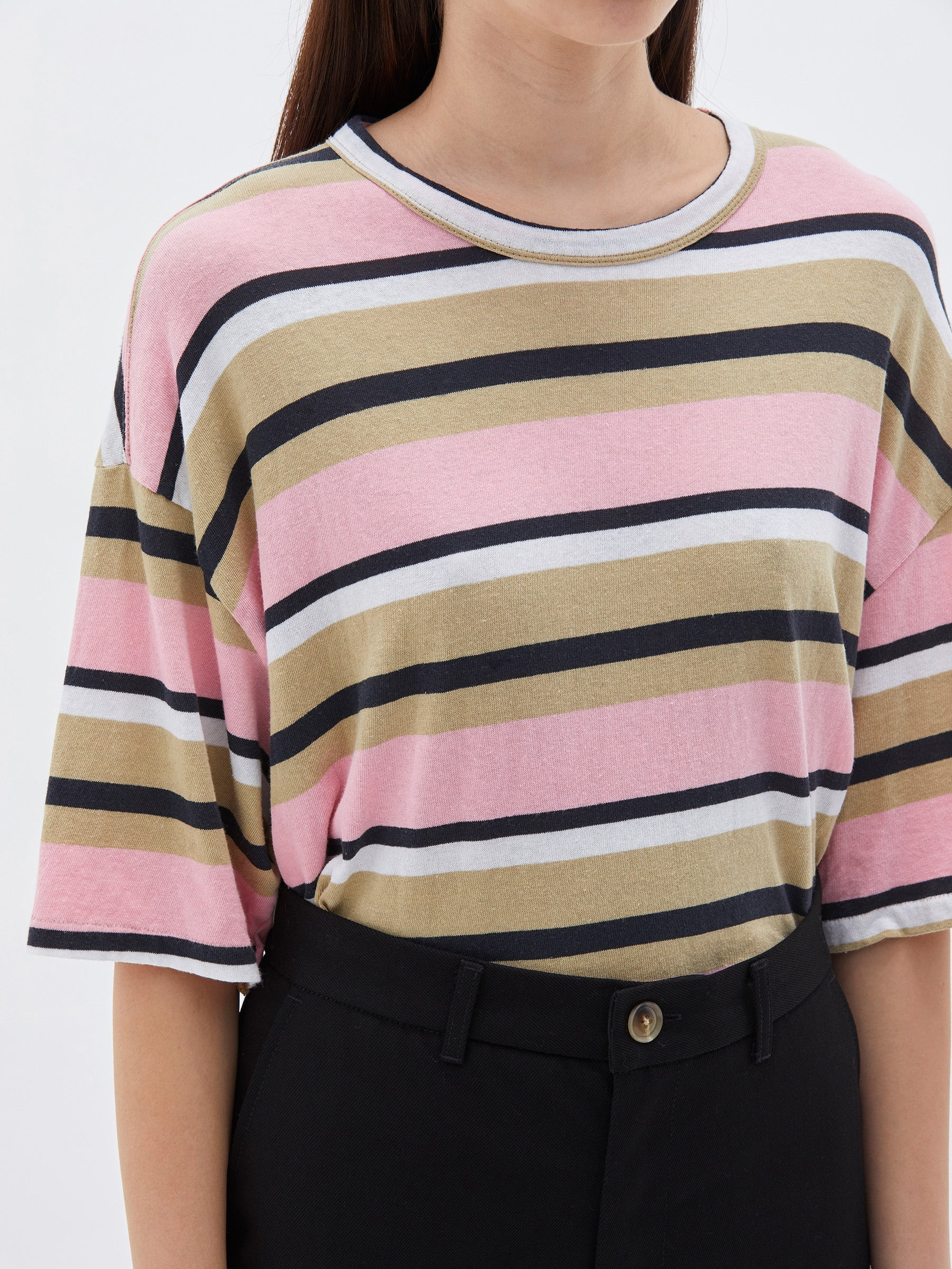 Stripe OS Wide Heritage S/S T-Shirt