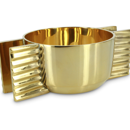 Azteca Brass Bowl Tringle Pattern