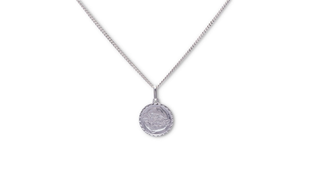 Star Sign Medallion Sterling Silver