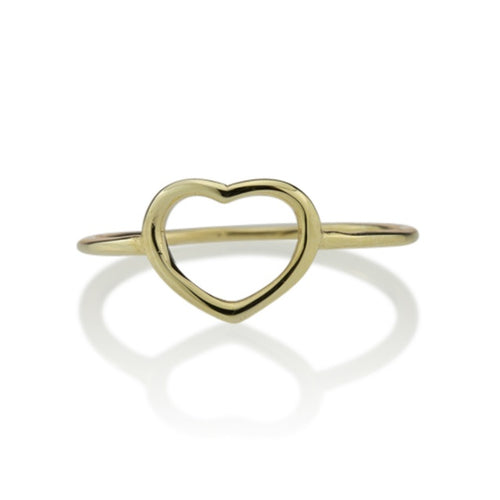 Fine Heart Ring 9K Yellow Gold