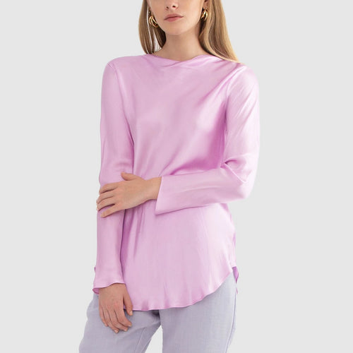 Zoe Long Sleeve Cowl Top