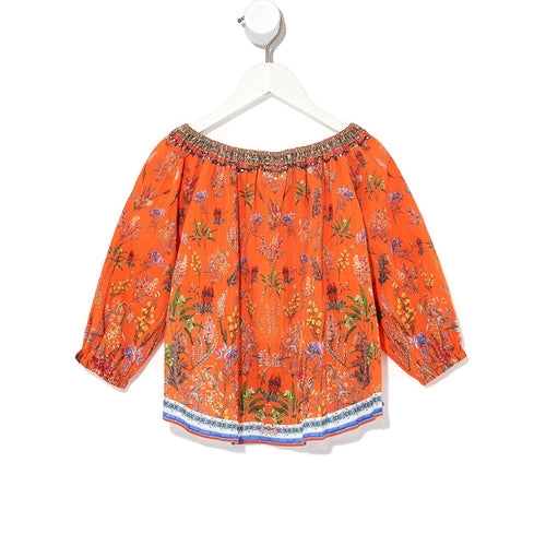 Gone Coast Kids Elasticated Neck Blouse