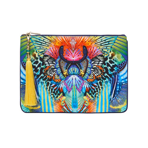 Reef Warrior Small Canvas Clutch