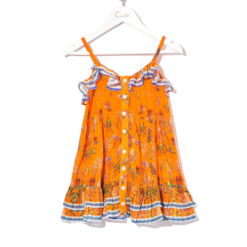 Gone Coast Kids Button Through Frill Dress