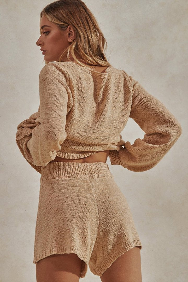 Celeste Jumper / Shorts Knit Set