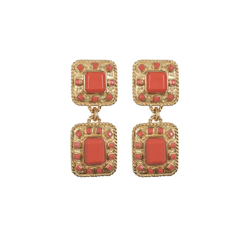 Zephyr Coral Earrings