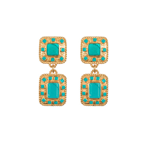 Zephyr Turquoise Earrings