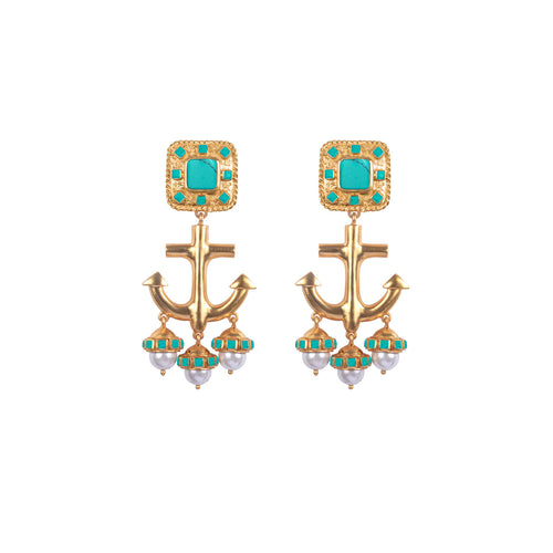 Nautical Turquoise Earring