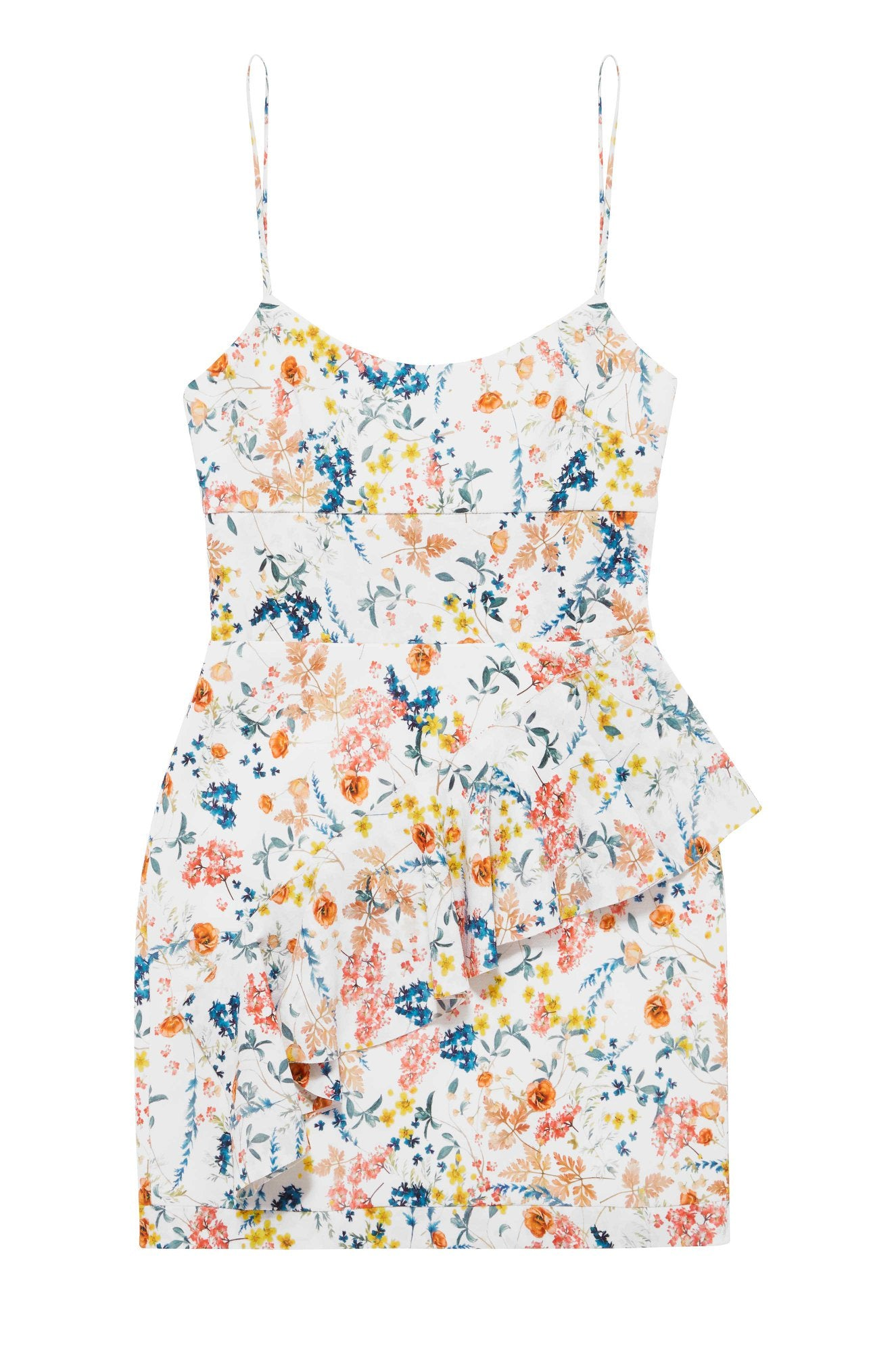 Floral Waves Mini Dress