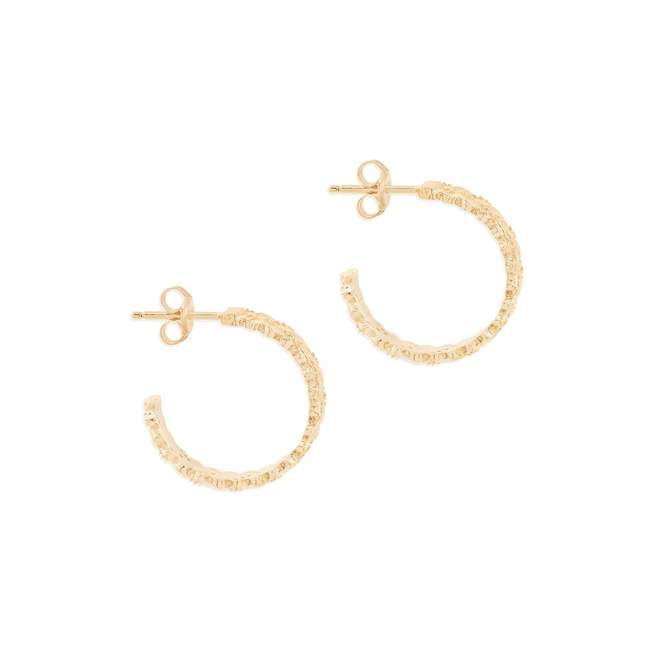 Gold Dream Weaver Hoops