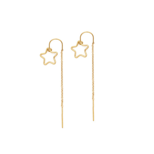 Star Pair Thread Earrings