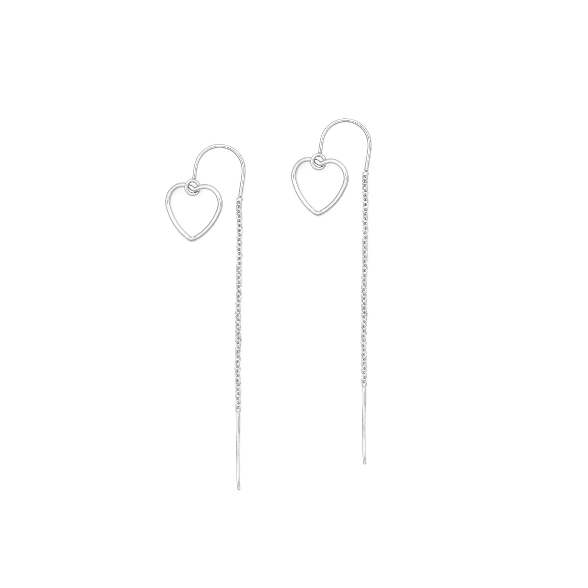 Heart Pair Thread Earrings