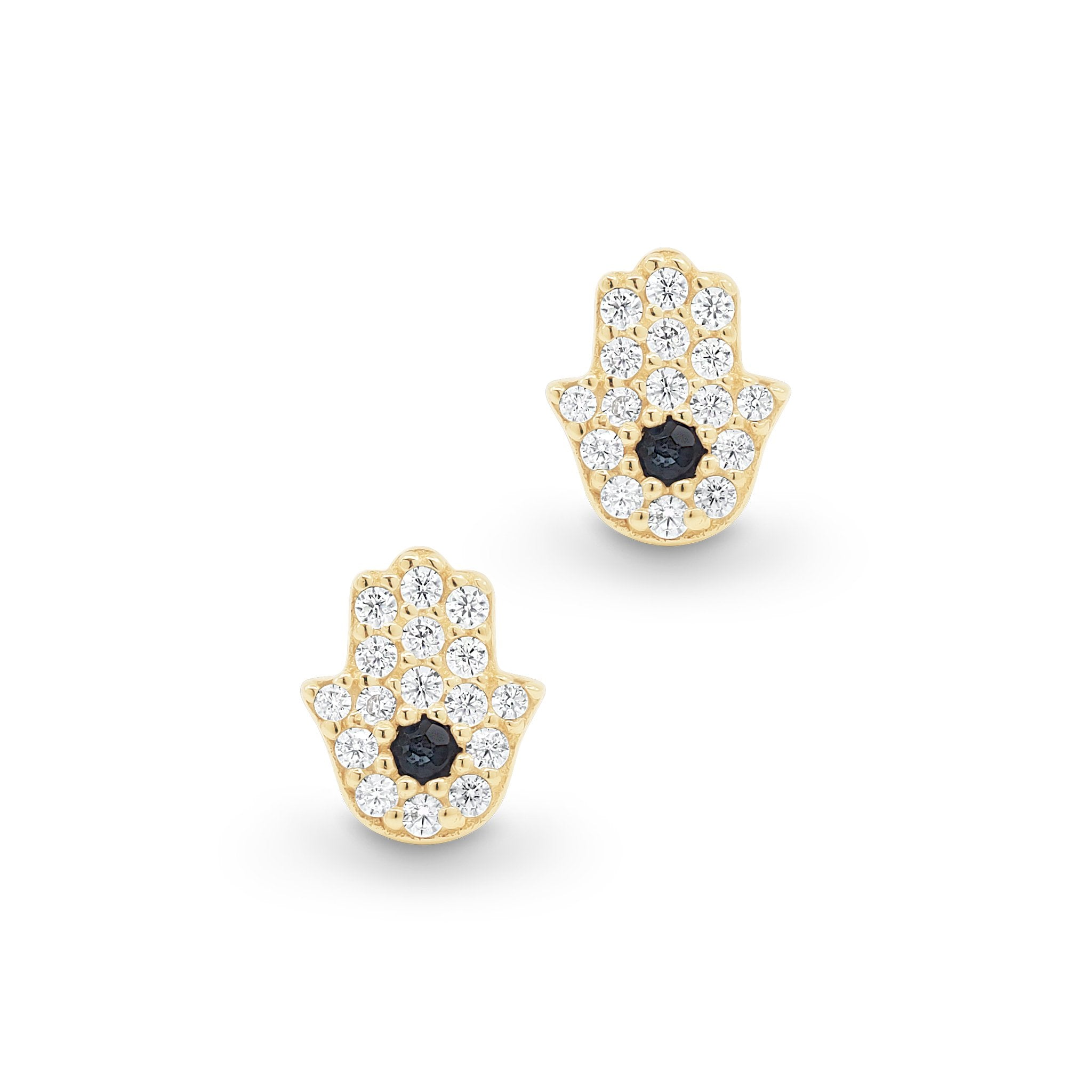 Gold Hand of Hamsa Earring Single