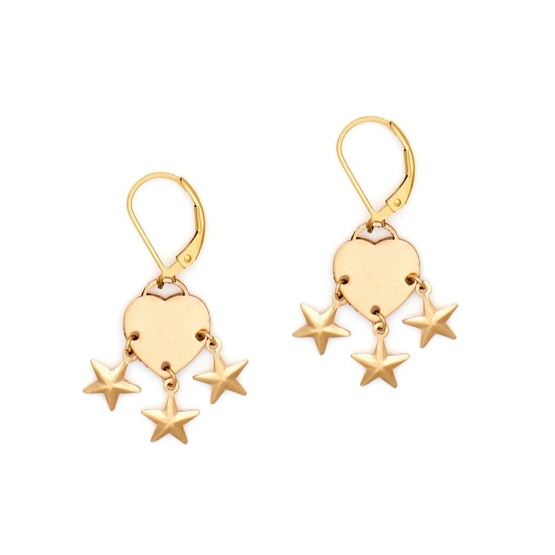 Gold Multi Star Earrings