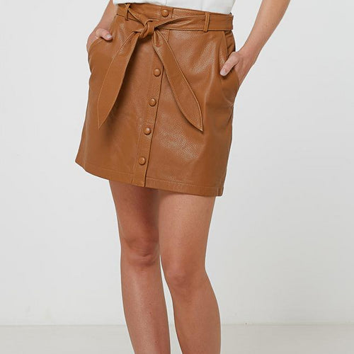 Viola Leather Skirt