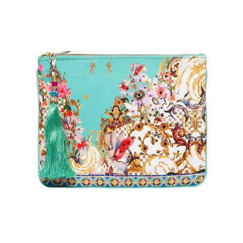 Floraison Small Canvas Clutch